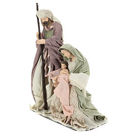 Nativity 45 cm in Shabby Chic style with fabric and lace details s3