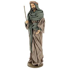 Natividade terracota e gaze verde e marrom presépio com figuras altura média 55 cm s3
