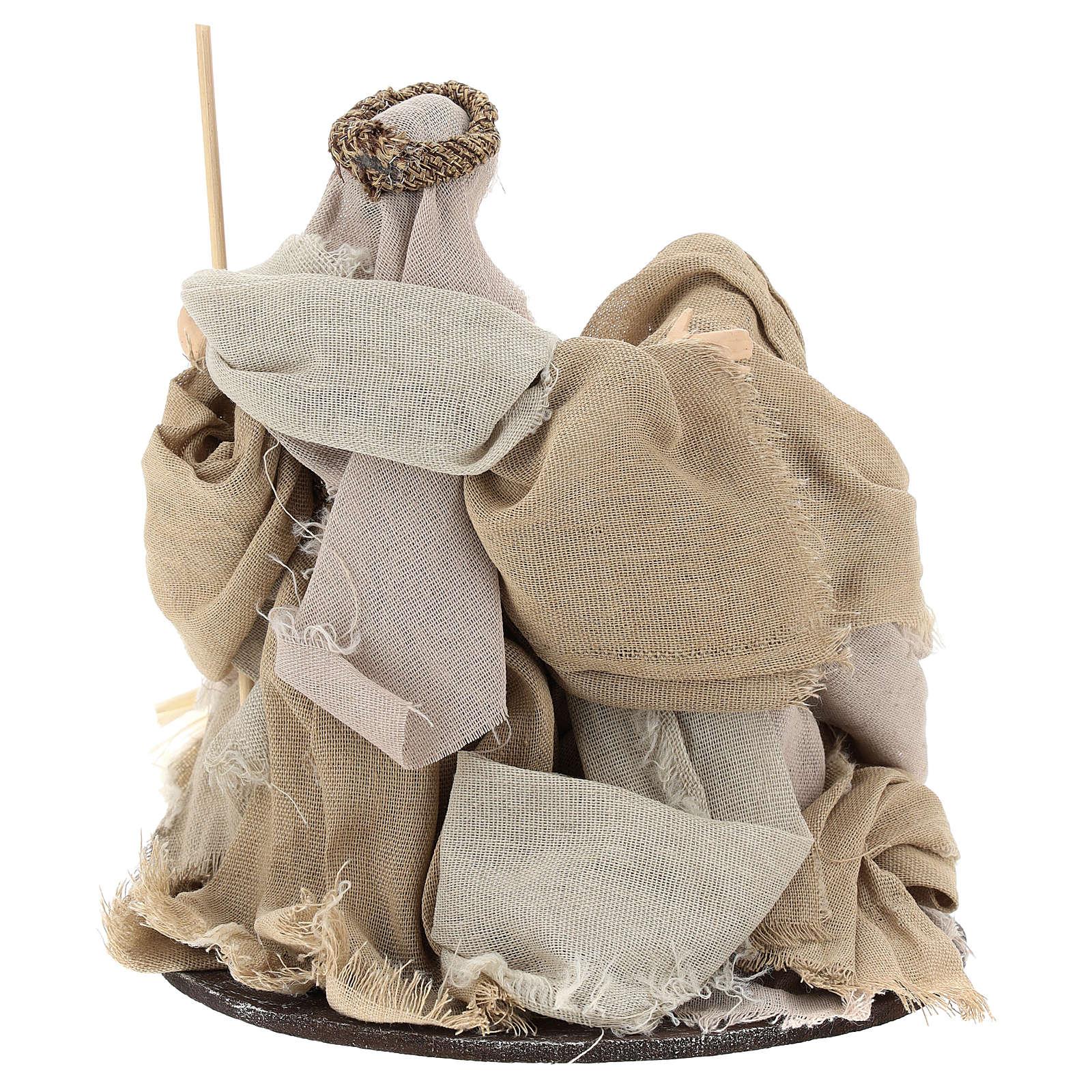 Natividade 20 cm em resina e gaze de estilo Shabby Chic 3