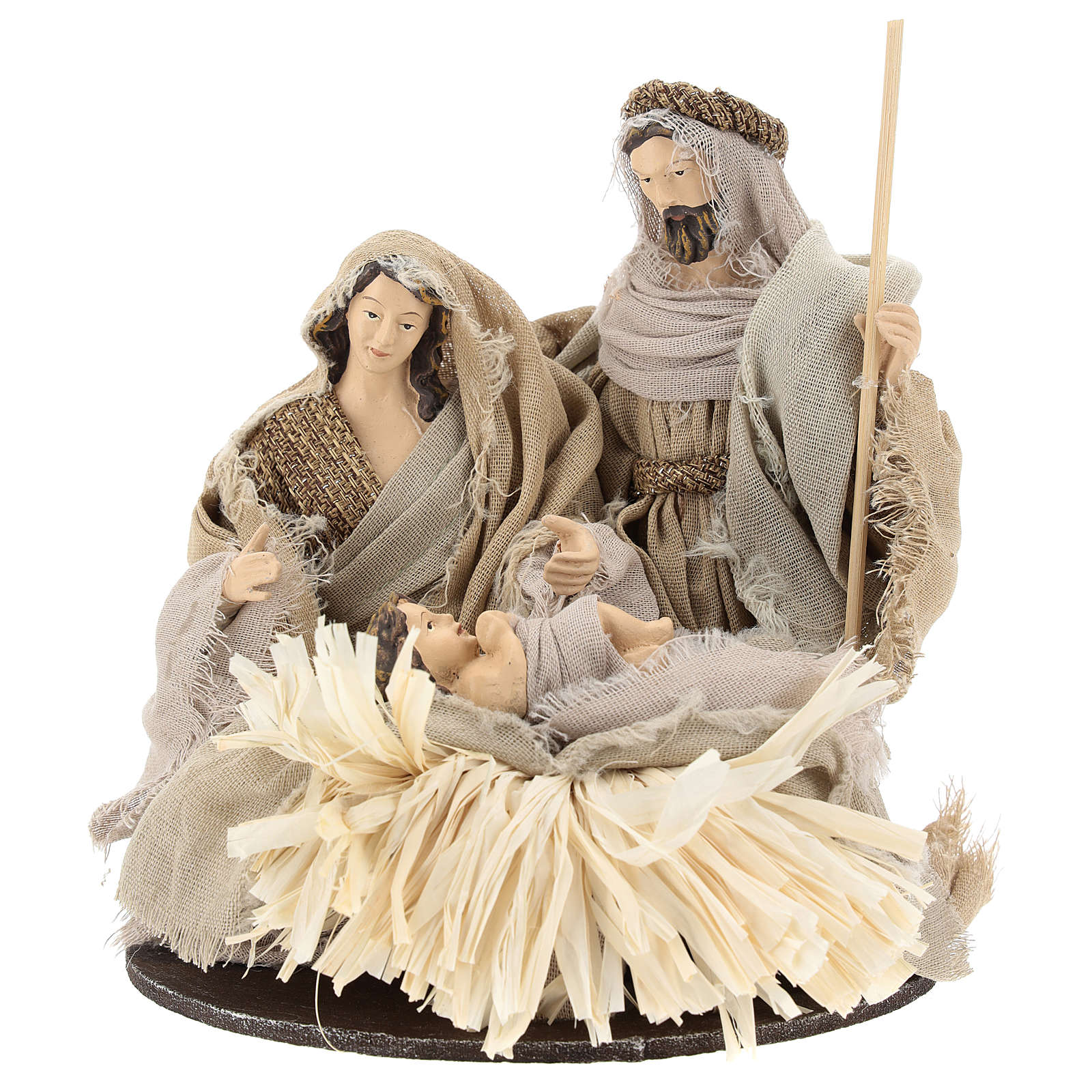 Holy Family 20 cm, in resin and gauze style Shabby Chic 3