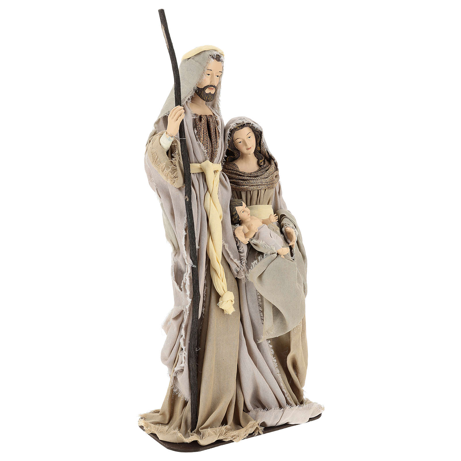 Natividad 60 cm de resina con base de madera Shabby Chic 3