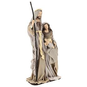 Nativité 60 cm en résine sur base en bois Shabby Chic s4