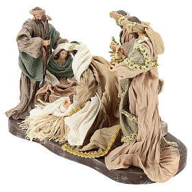 Nativity set 30 cm, in terracotta on base diam 40 cm s3