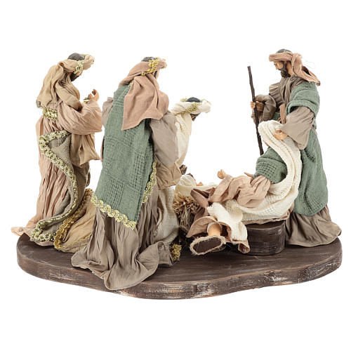 Nativity set 30 cm, in terracotta on base diam 40 cm 5