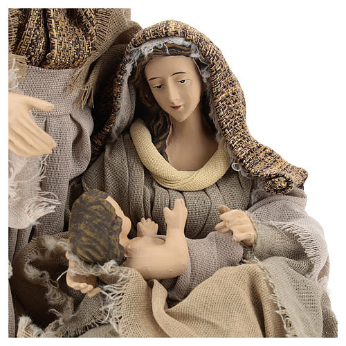 Natività in resina 30 cm su base unica toni beige 2