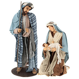 Lifesize Nativity 170 cm in resin and fabric in Shabby Chic style s1