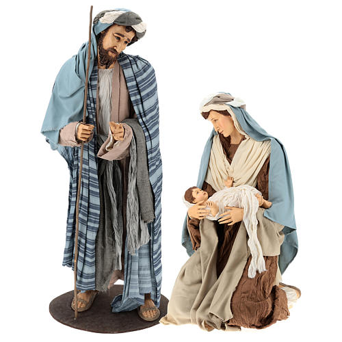 Lifesize Nativity 170 cm in resin and fabric in Shabby Chic style 1