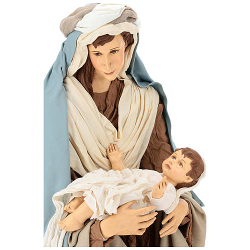 Lifesize Nativity 170 cm in resin and fabric in Shabby Chic style 2