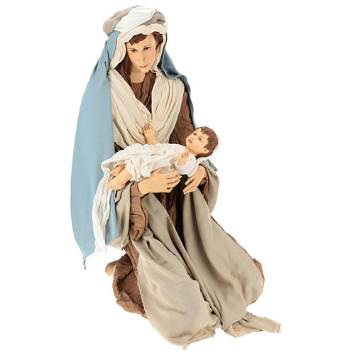 Lifesize Nativity 170 cm in resin and fabric in Shabby Chic style 5