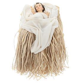 Natividade 80 cm terracota e tela bege e bordô Shabby Chic s3