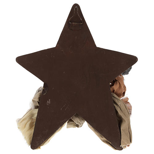 Natividad 30 cm de resina con fondo y estrella 4