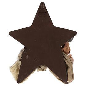 Nativité 30 cm en résine sur fond avec étoile s4