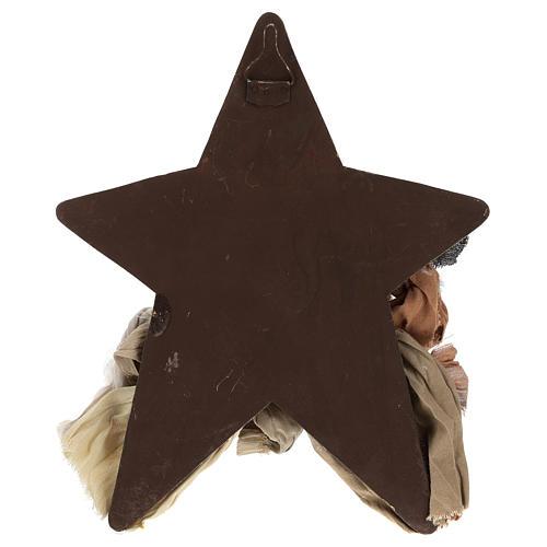 Natività 30 cm in resina su sfondo con stella 4