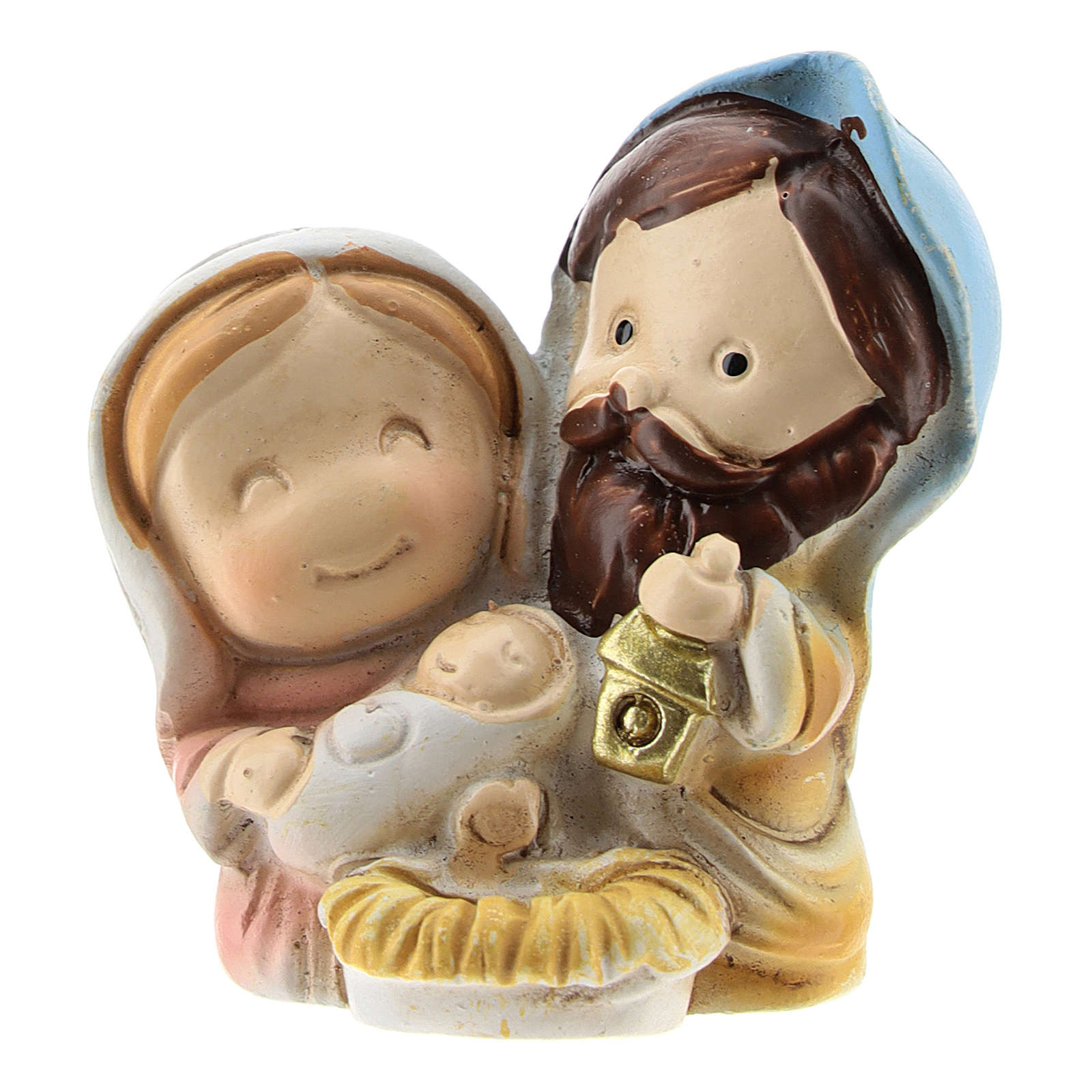 Nativity in painted resin, children's line 4x2x4 cm 3
