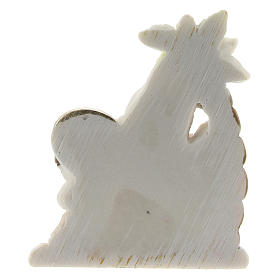 Holy Family set with palm in colored resin 4x2x5 cm childrens line s2