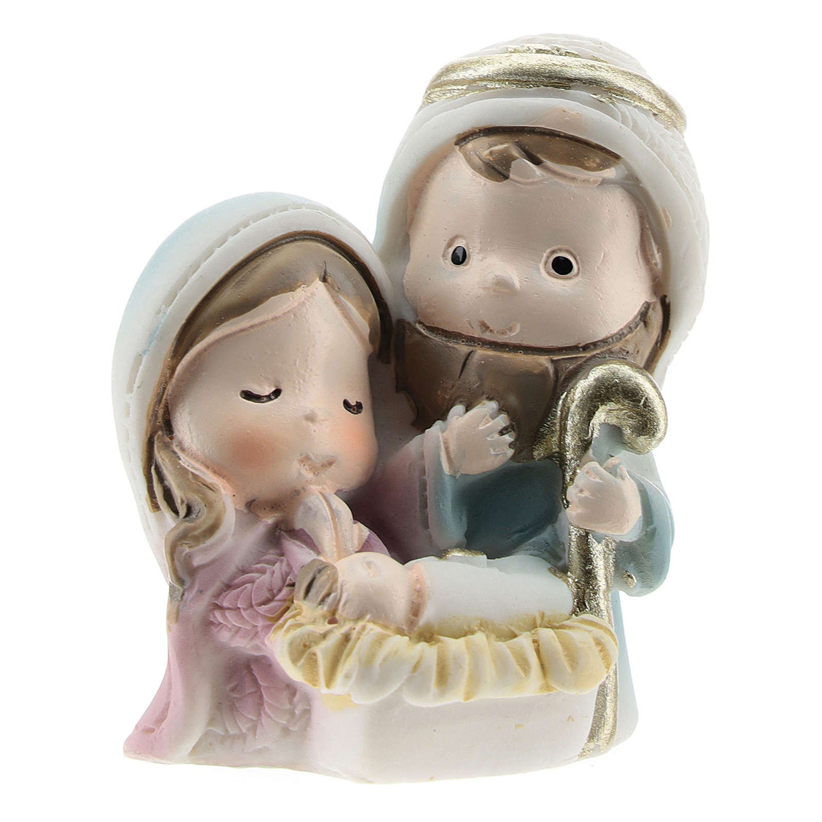 Nativity scene in painted resin, children's line 4x2x4 cm 3