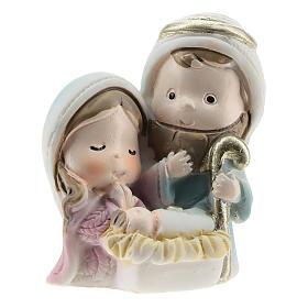 Nativity scene in painted resin, children's line 4x2x4 cm s1