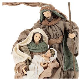 Geburt von Jesus Figuren aus Harz in Kranz Shabby Chic, 24 cm s2