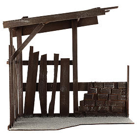 Set 8 pièces Nativité 35 cm avec cabane Shabby Chic s5
