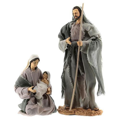 Set 8 pièces Nativité 35 cm avec cabane Shabby Chic 2