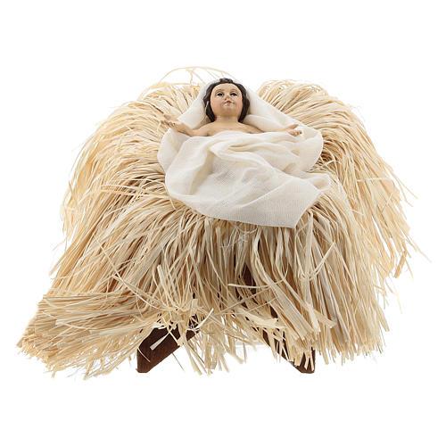 Natividad 35 cm con tejido color bronce Shabby Chic 3