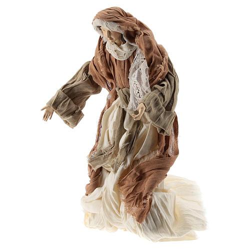 Nativité 35 cm avec tissu couleur bronze Shabby Chic 4