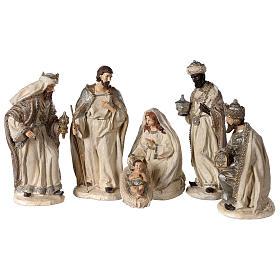 Nativity scene 6 characters in resin 30 cm s1