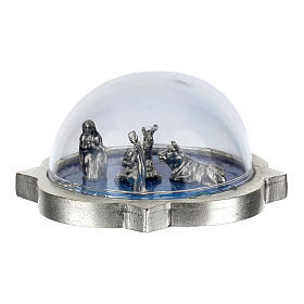 Nativity scene in glass dome, Holy Family, ox and donkey s3