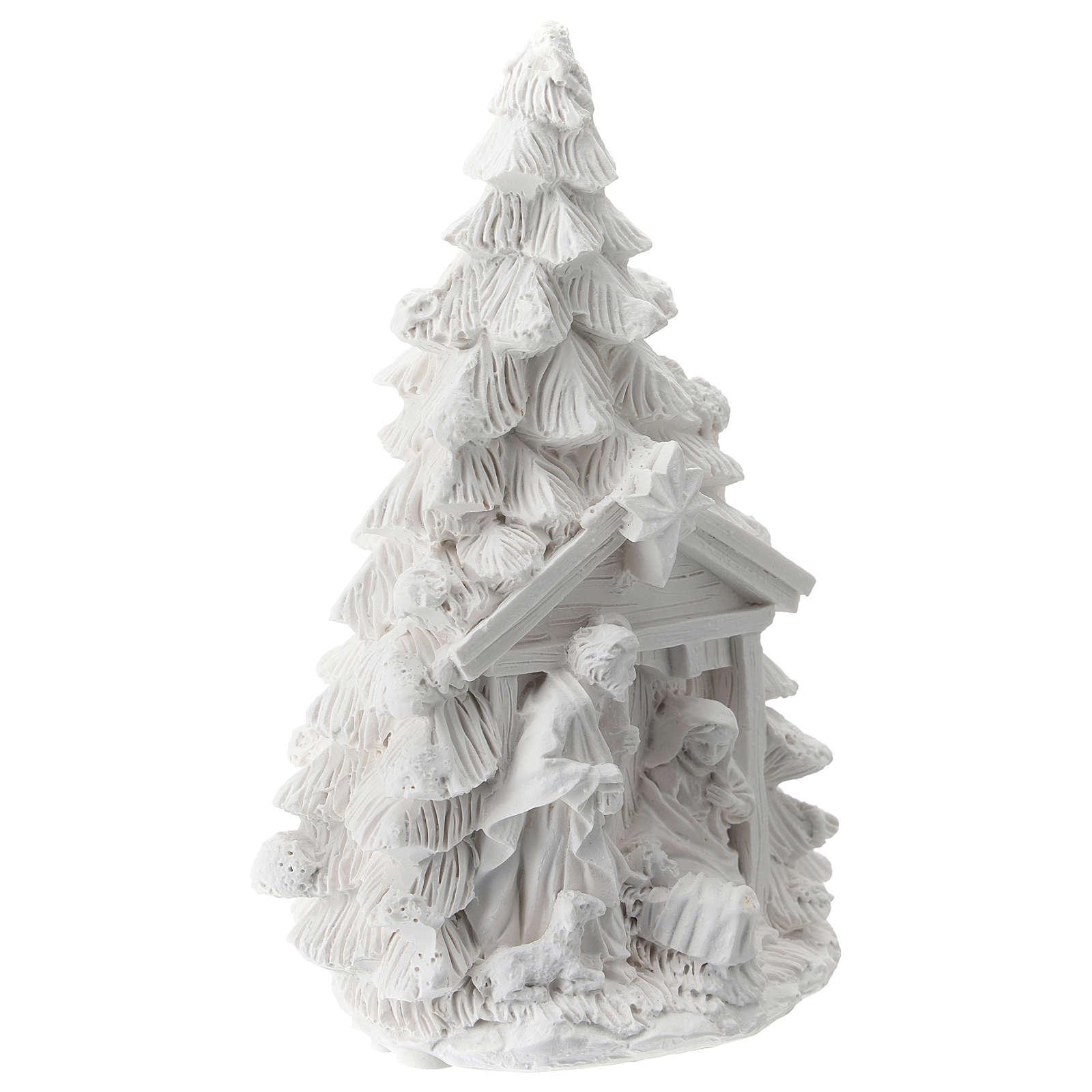 Árbol Navidad resina con Natividad 15 cm 3