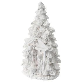 Árbol Navidad resina con Natividad 15 cm s2