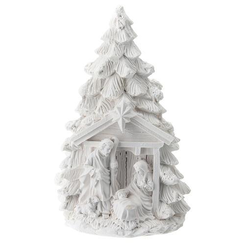 Árbol Navidad resina con Natividad 15 cm 1