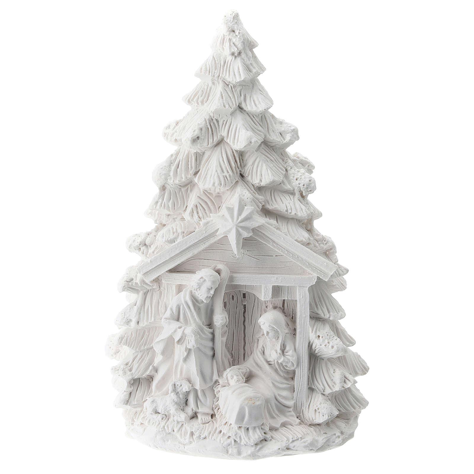 Albero Natale resina con Natività 15 cm 3