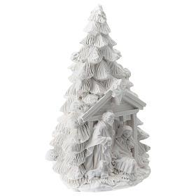 Albero Natale resina con Natività 15 cm s3
