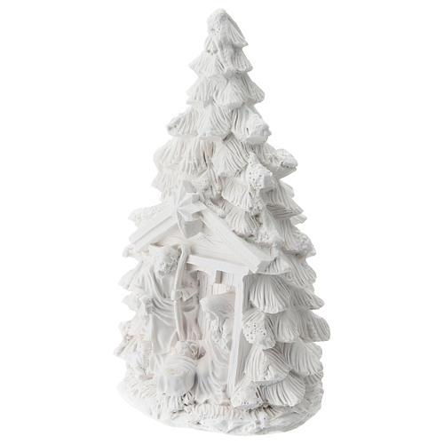 Albero Natale resina con Natività 15 cm 2