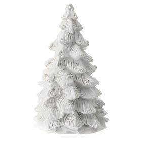 Christmas tree with white resin Nativity 10 cm s3