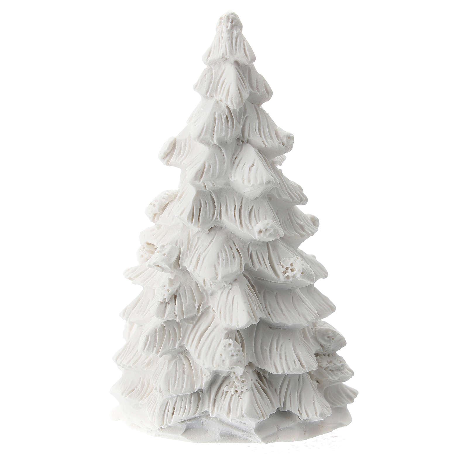Albero Natale Natività resina bianca 10 cm 3