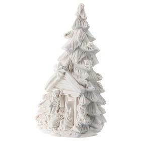Albero Natale Natività resina bianca 10 cm s2