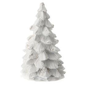 Albero Natale Natività resina bianca 10 cm s3