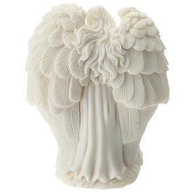 Natività con Angelo resina bianca 10 cm s3
