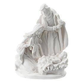 Sacra Famiglia resina bianca 5 cm s1