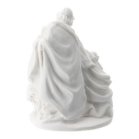 Sacra Famiglia resina bianca 5 cm s2