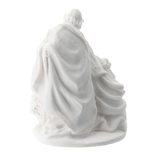 Sacra Famiglia resina bianca 5 cm 2