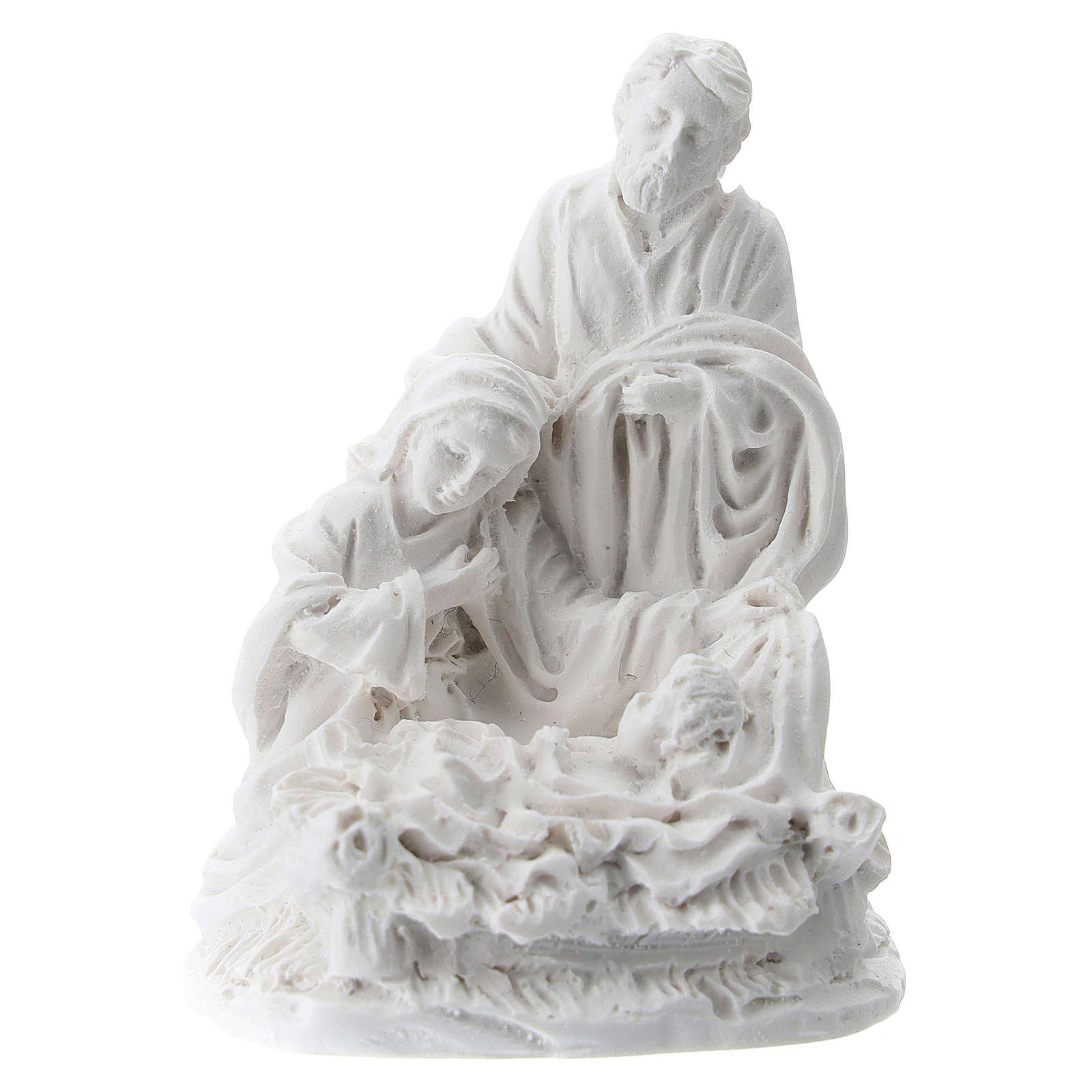 Nativity 5 cm white resin 3