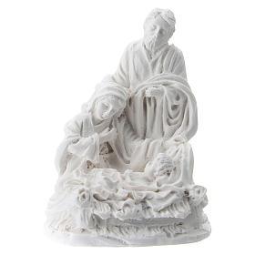 Nativity 5 cm white resin s1