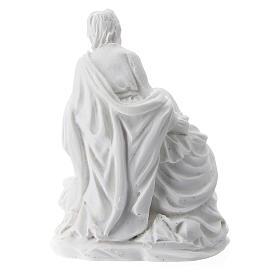 Nativity 5 cm white resin s2