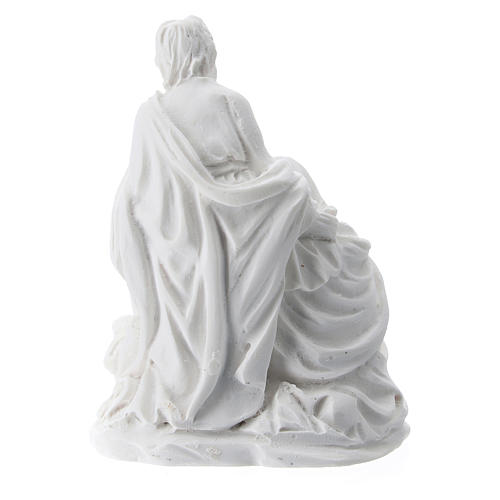 Nativity 5 cm white resin 2
