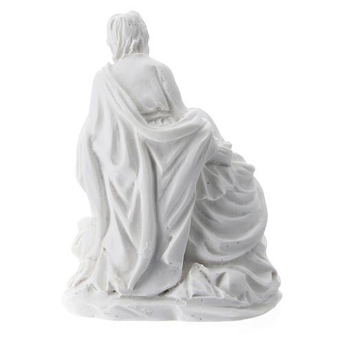 Natividad 5 cm resina blanca 2