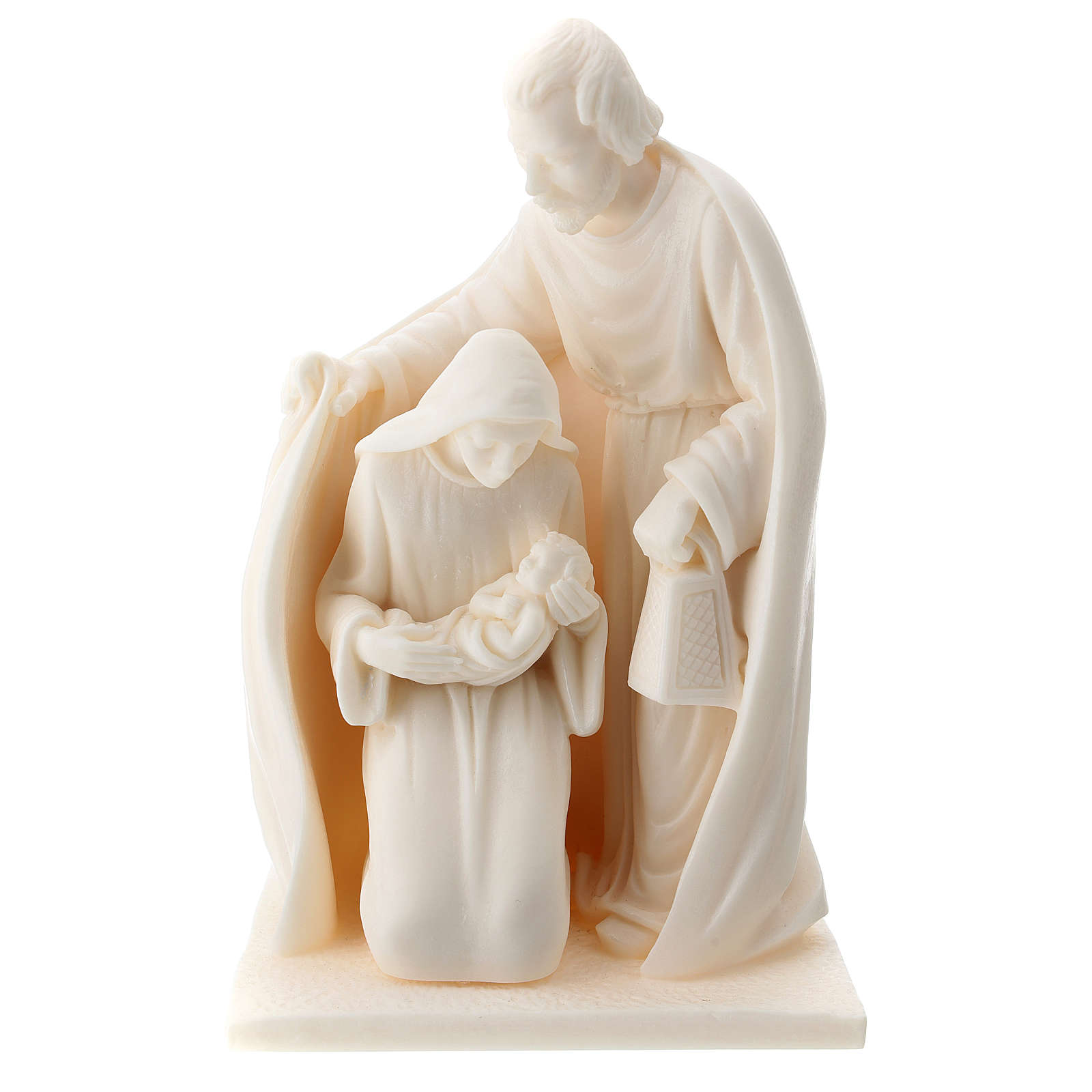 Nativity resin white 15 cm 3