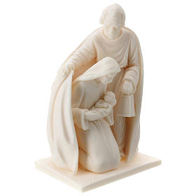 Nativity resin white 15 cm s3