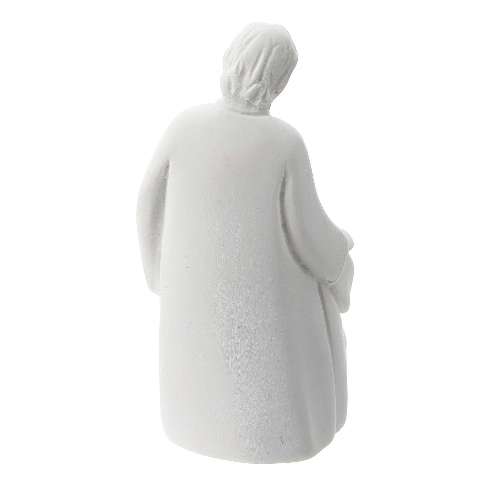 Sacra Famiglia stile classico resina bianca 5 cm 3